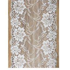 Tischläufer / Tischband Vintage aus weißer Spitze - Breite 18cm / Länge 9 Meter