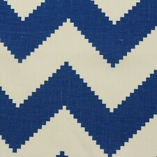 "KRAVET JONATHAN ADLER LIMITLESS MARINE BLUE CHEVRON FABRIC BY THE YARD 54""W"