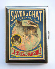 Savon Le Chat French Cat Art Nouveau Poster Cigarette Case id case Wallet