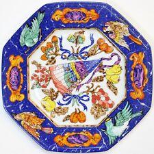 Hermes Marqueterie Limoges Octagonal Porcelain Plate