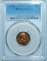 1941 PCGS PR64RD Red Proof Strike Lincoln Wheat Cent Penny