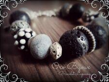Bracelet artisanal fantaisie - Lapsang - Oxo Bijoux