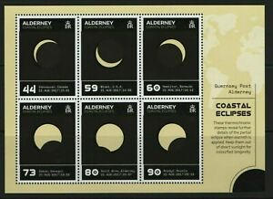 Alderney 2017 Coastal Eclipses Unique Unusual Thermochroic Miniature sheet MNH