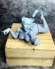 75MM Cat Girl Resin Figure Model Kit Unassembled Unpainted GK