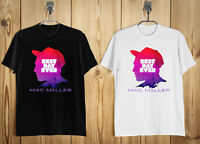 MAC MILLER FACES Rapper Rap Hip Hop Men's T-Shirt Black White S-2XL