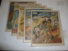 2000 AD Comic 5 Comic JOB LOT - Progs No 341 too 345 Date 1983 - UK Paper Comic