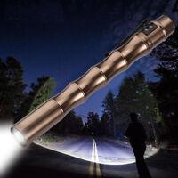 Tactical Mini Penlight Pocket 1000Lumen CREE XP-E R2 LED Flashlight Torch Fine