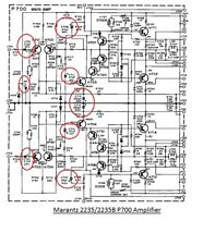 Marantz 2235/2235B P700 Amplifier Board Capacitor Upgrade Kit