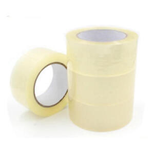 72 BIG ROLLS OF CLEAR 2''48MM x 66M STRONG PACKAGING STICKY SELLOTAPE TAPE