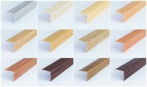 ! 1 meter ! WOOD EFFECT PLASTIC PVC CORNER 90 DEGREE ANGLE TRIM  VARIOUS SIZES