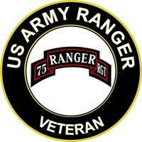 "Army Ranger Veteran 5.5"" Sticker 'Officially Licensed'"