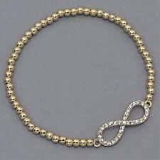 Goldtone Crystal Infinity Stretch Fashion Bracelet