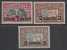 Estonia stamps 1930 Mi 87-89 Mlh Vf