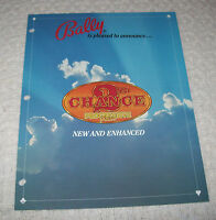 BALLY GAMING 2nd CHANCE PROGRESSIVE POKER CASINO SLOT MACHINE PROMO FLYER