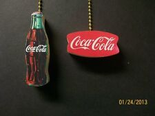 Coca cola ceiling fan pull ebay 2 coca cola coke bottle vintage coke sign ceiling fan pulls aloadofball Gallery