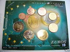 Premiers Euros FINLANDAIS de circulation courante SOUS BLISTER  1ère Série BL005