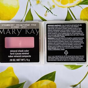 Discontinued Mary Kay Mineral Powder Cheek Colors/Blush Strawberry Cream (NEW)