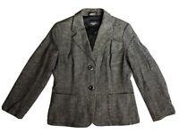 Max Mara Weekend Women Tweed Blazer Made In Italy Size 12
