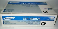 Samsung CLP-500D7K Black Toner new sealed genuine