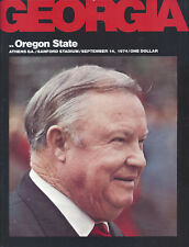 1974 Georgia Oregon S Football Program Signed AD Joel Eaves CHOF HC Vince Dooley