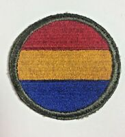 WWII WW2 US Army Replacement & School Command Shoulder Military Woven Patch
