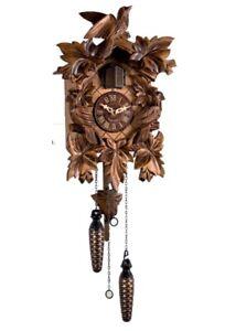 Lowell - Cucù in legno movimento al quarzo, color Noce