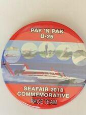 """Red"" 2018 Pay N Pak U-25 Prototype Race Team Seafair Hydroplane Pin"