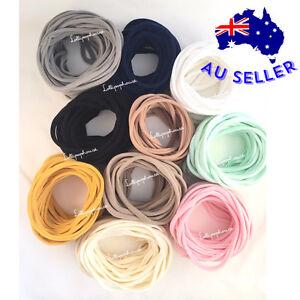 Skinny 100 Wholesale Nylon Headbands One Size fits all, bulk nylon headband