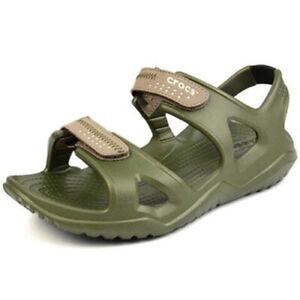 CROCS Swiftwater Mens Slippers River Adjustable Elastic Men's Beach Sports Shoes