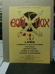 RARE ORIGINAL 1970 BILL GRAHAM PRESENTS FILLMORE WEST EQUINOX CONCERT POSTER