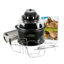 JML Halowave Aircooker Deluxe Halogen Air Cooker With Rotisserie Black 1500W NEW