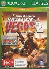 Classic Xbox 360 Game - Tom Clancy's - Rainbow Six - Vegas 2 - Inc. Fan Pack