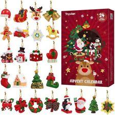 Advent Calendar with 24PCS Hanging Ornaments Christmas Decor Countdown Calendar