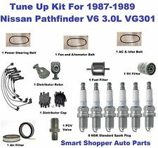 Tune Up Kit for 87-89 Nissan Pathfinder V6 3.0L VG30E Ignition Wire Set, Filter