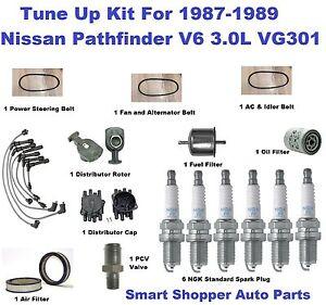 Tune Up for 1987 1988 1989 Nissan Pathfinder V6 Spark Plug Wire Set, Filter Belt