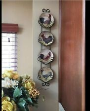 Rooster Wall Decor Plates Hanging Wall Art Kitchen Country Animal Theme Farm