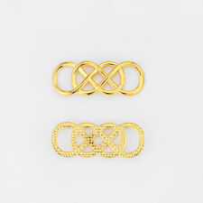 10 x Gold Plated Infinity Celtic Knot Connector Charms for Jewellery Making