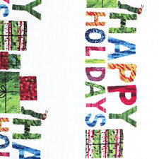 """ANDOVER """"THE VERY HUNGRY CATERPILLAR CHRISTMAS"""" HAPPY HOLIDAY Multi  by yard"""