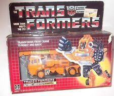 GRAPPLE 1985 Vintage Hasbro G1 Transformers inserts/Box/MINT LIKE NEW AMAZING!