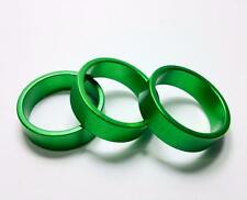 qty 3 10mm Alloy Spacer Green Anodized 1-1/8 28.6mm Threadless Fork steerer