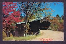 LMH Postcard ALBANY COVERED BRIDGE Swift River Paddleford Truss Arches Conway NH