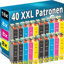 40 XXL TINTE PATRONEN für Epson WF2010W WF2630WF WF2650DWF WF2660DWF SET DRUCKER