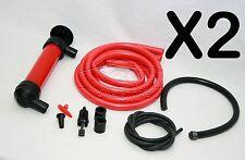 2X Kit De Bomba Manual De Sifón Sifón extraer petróleo gasolina líquidos de combustible diesel 319
