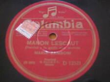 """10"""" 78 RPM vinyl MARIA ZAMBONI MANON LESCAUT - LA TOSCA ( Puccini ) COLUMBIA"""