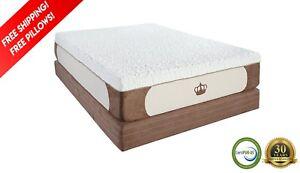 """Dynasty 14"""" King Cool Breeze GEL Memory Foam Mattress-FREE 2 Pillows-Medium Firm"""