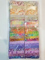 Batik 100% Cotton Fabric Quilter Jelly Roll 40 x 112cm x 6.35cm Rainbow Riot