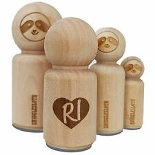 RI Rhode Island State in Heart Rubber Stamp for Stamping Crafting Planners