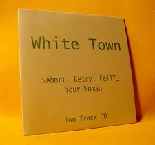 Cardsleeve Single CD White Town Abort Retry Fail? (Your Woman) 2TR 1997 Synthpop