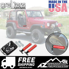 GraBars BootBars Foot Pegs with Red Grips for 1987-2006 Jeep Wrangler YJ TJ LJ