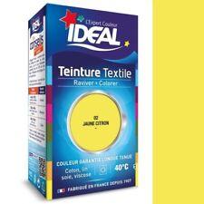 TEINTURE avec FIXATEUR TEXTILE TISSU JAUNE CITRON 02 IDEAL vetement coton soie